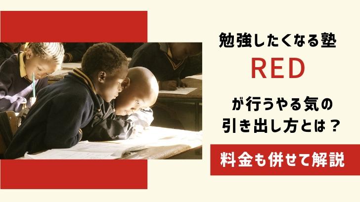 勉強したくなる塾「RED」が行うやる気の引き出し方とは?料金も併せて解説
