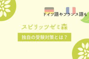 ドイツ語やフランス語も!【スピリッツゼミ森】独自の受験対策とは?