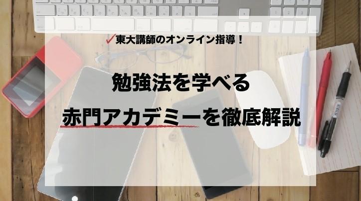 東大講師のオンライン指導!勉強法を学べる赤門アカデミーを徹底解説