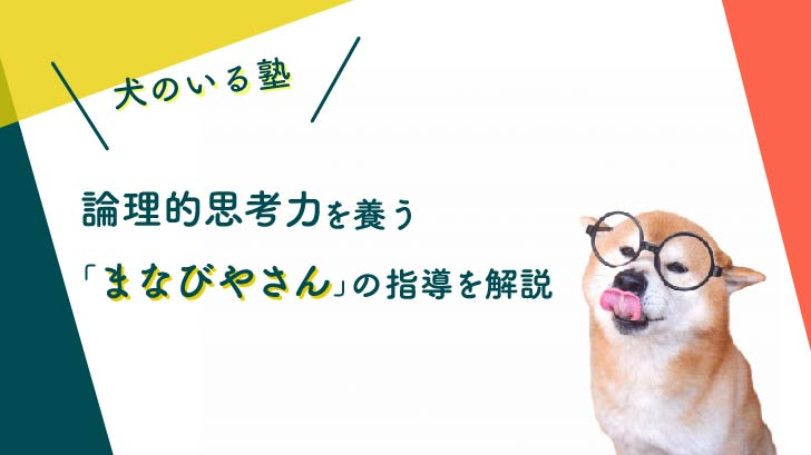 【犬のいる塾】論理的思考力を養う「まなびやさん」の指導を解説