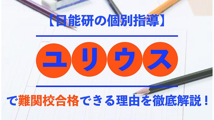 【日能研の個別指導】ユリウスで難関校合格できる理由を徹底解説!