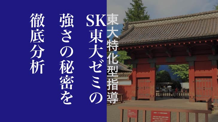 【東大特化型指導】SK東大ゼミの強さの秘密を徹底分析