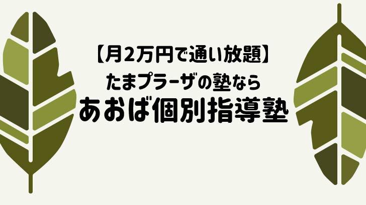 【月2万円で通い放題】たまプラーザの塾ならあおば個別指導塾